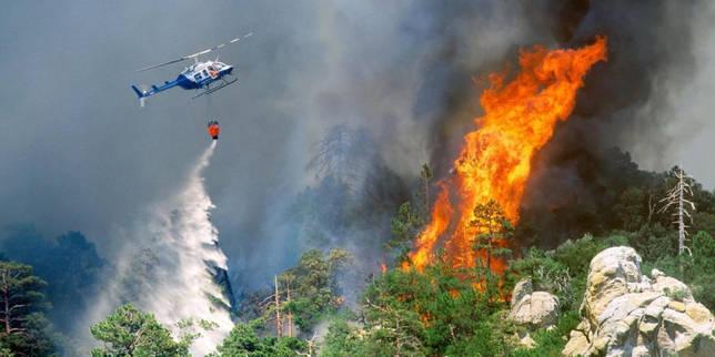 Тушение огня воздушным способом