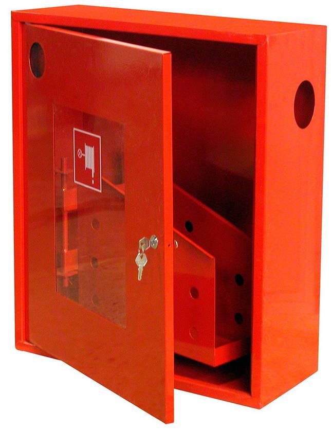 Навесной пожарный шкаф с кассетой для рукава