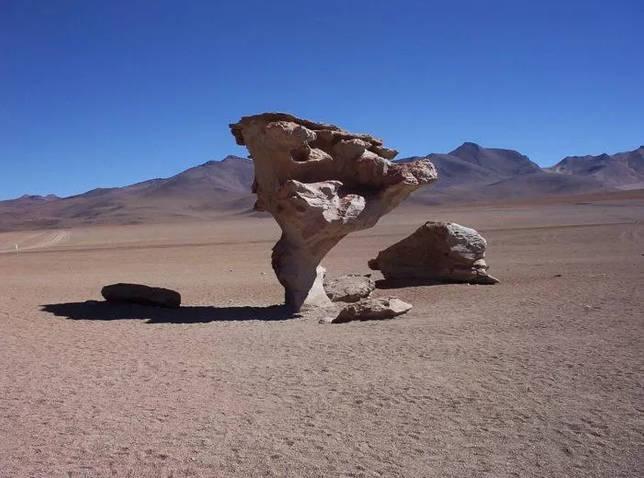 Рис. 3. Выточенная ветром скальная формация на Альтиплано. Боливия